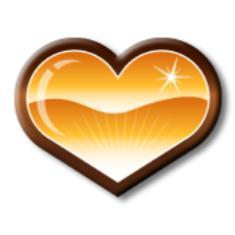 Golden heart graphic