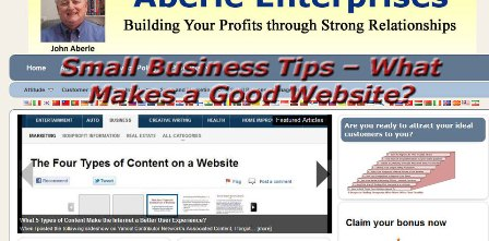 Image with title for Small Business Tips - What Makes a Good Website?