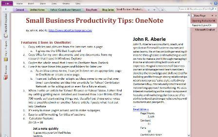 Screenshot of Small Business Productivity Tips: OneNote video