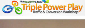screenshot of The Prosperity Course Triple Power Play Traffic & Conversion Workshop logo