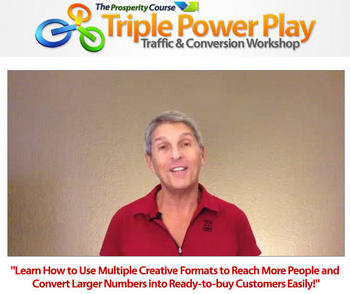Screenshot of Ken Krell on sales page for Triple Power Play Traffic & Conversions workshop