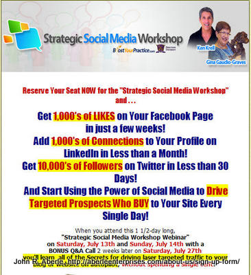 """Image of the Strategic Social Media Workshop sales page for """"Does the Thought of Social Media Marketing Overwhelm You?"""""""