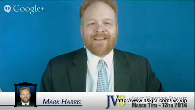 Screenshot of Mark Harris on the MegaHangOut 2, a Google+ Hangout about the JV Summit