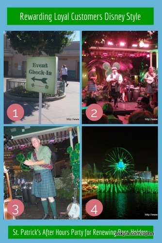 """Screen capture of """"Rewarding Loyal Customers Disney Style"""" collage designed with Canva"""