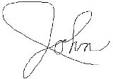 John's digital signature written with mouse