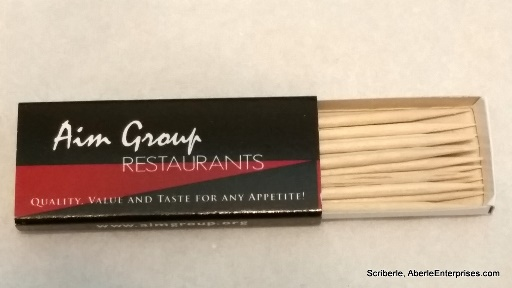 Picture of Aim Restaurant Group's boxed toothpicks