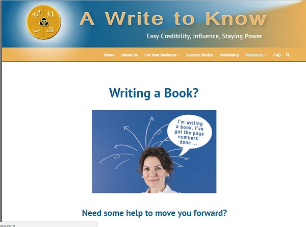 Screen Capture of A Write to Know Sales Page