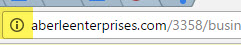 Screen shot of Chrome notice that Aberle Enterprises as insecure