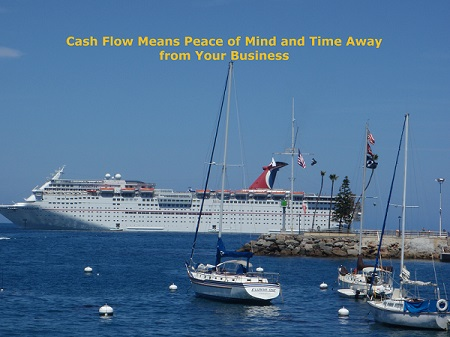 """Picture of the Carnival Paradise from Avalon on Catalina to illustrate how """"TCash Flow Means Peace of Mind and Time Away from Your Business"""""""
