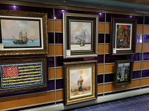 A picture of Art on the walls of the Carnival Miracle
