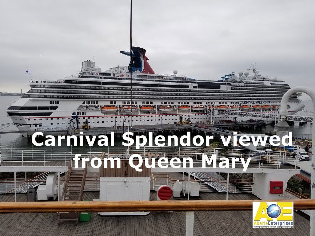 Picture of the Carnival Splendor viewed from the Queen Mary