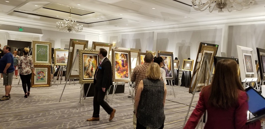 Art auction preview at the Park West Gallery V.I.P. Event at The Ritz-Carlton, Marina Del Rey