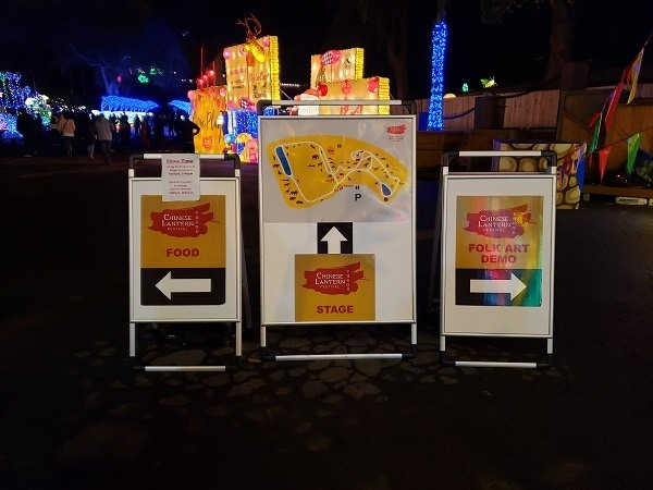 Picture of Magical Chinese Lantern Festival map and directional signs